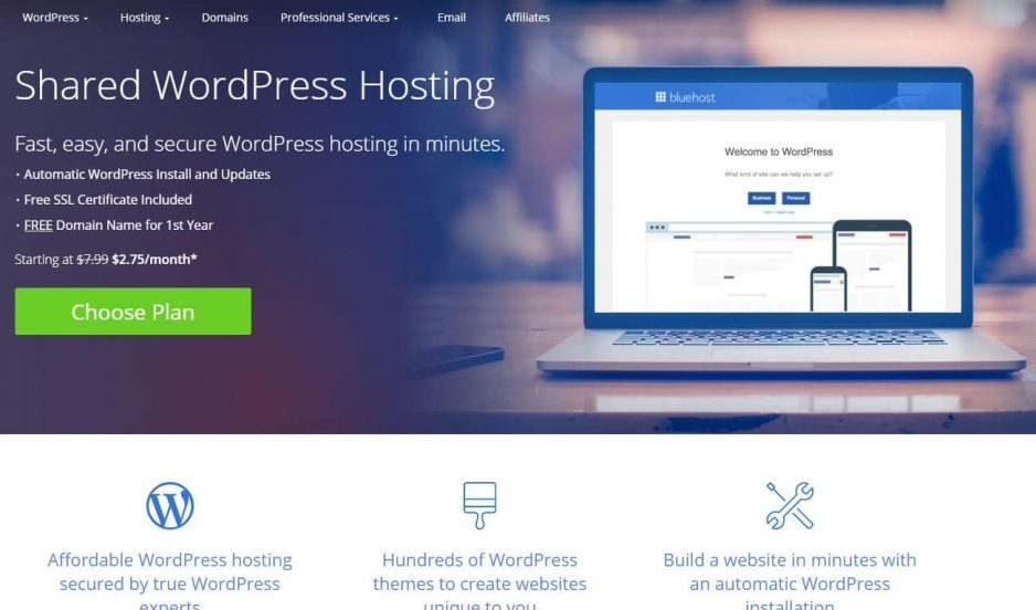 Bluehost, World Best Hosting Recommended by WordPress